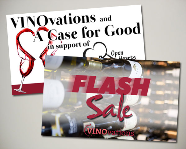 case for good flash sale wine website banner design