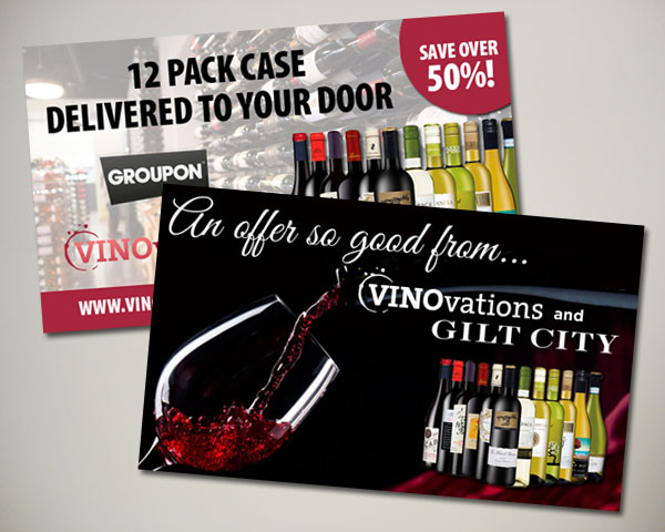groupon gilt wine website banner design