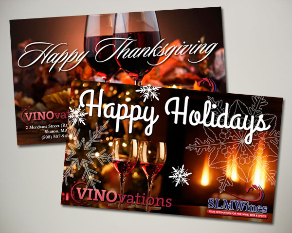 thanksgiving holiday wine website banner design