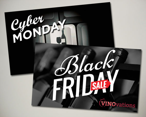 black friday cyber monday wine website banner design