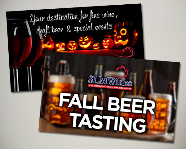 halloween fall beer tasting wine website banner design