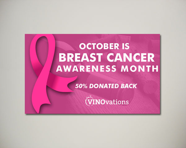 breast cancer wine website banner design