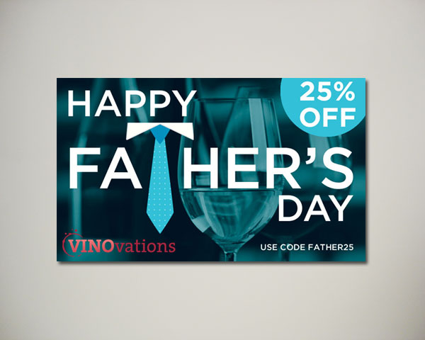 fathers day wine website banner design
