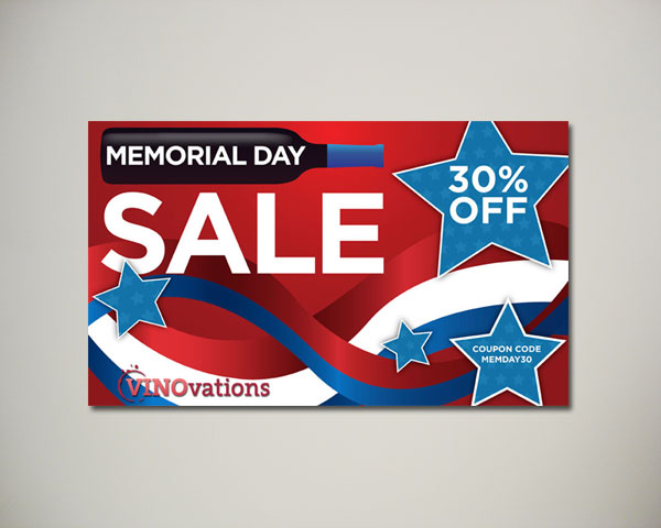 memorial day wine website banner design