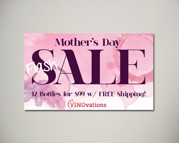 mothers day wine website banner design