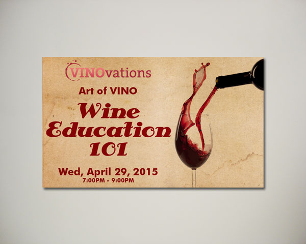wine education website banner design