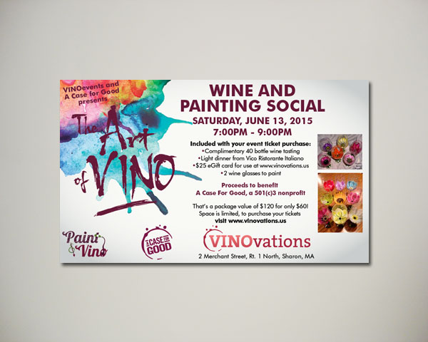 art and vino wine website banner design