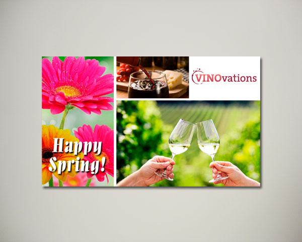 spring wine website banner design