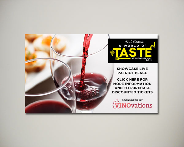 world of taste wine website banner design