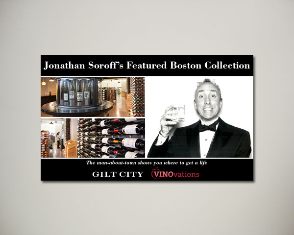 jonathan soroff gilt wine website banner design