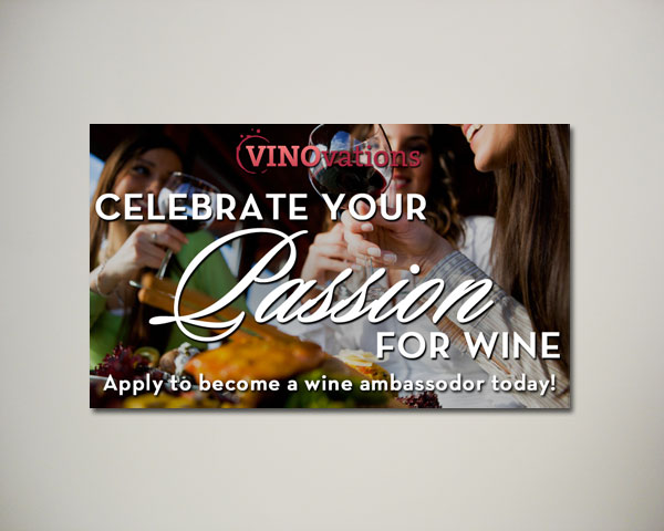 wine ambassodor website banner design
