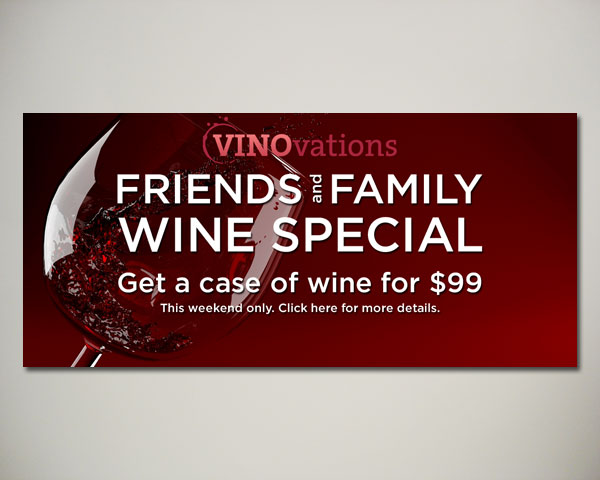 friends family wine website banner design