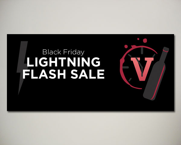 black friday lightning sale wine website banner design