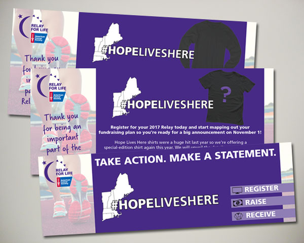 american cancer society relay for life web banner design hope lives