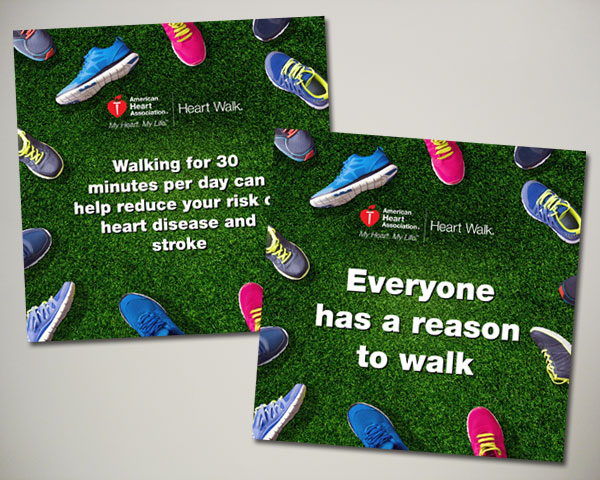 american heart association heart walk web banner design