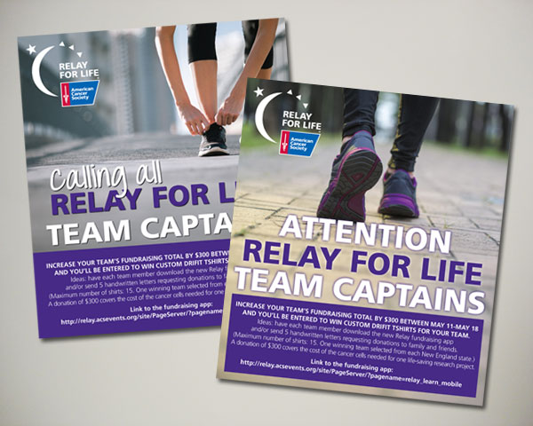 american cancer society relay for life web banner design